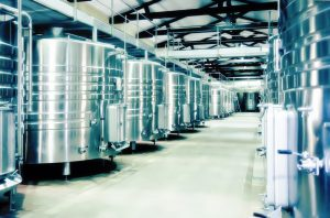 winery distillation space in wine factory